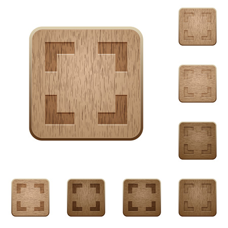 selector: Set of carved wooden selector tool buttons in 8 variations.