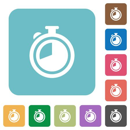 elapsed: Flat timer icons on rounded square color backgrounds.