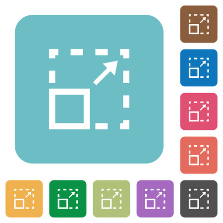 maximize: Flat maximize element icons on rounded square color backgrounds. Illustration