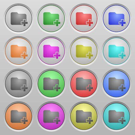 spherical: Set of Add new folder plastic sunk spherical buttons. Illustration