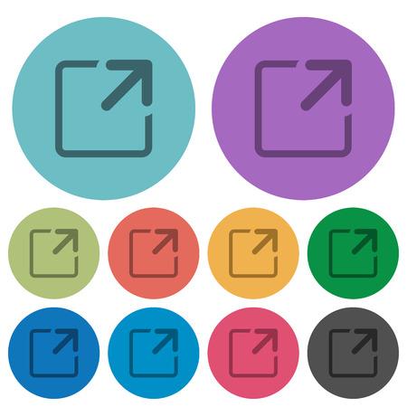 maximize: Color maximize window flat icon set on round background. Illustration