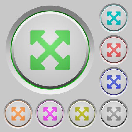alt: Set of color Resize full alt sunk push buttons. Illustration