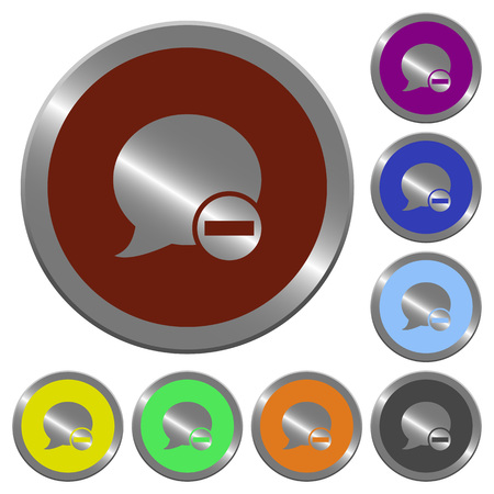 comment: Set of color glossy coin-like Delete blog comment buttons.