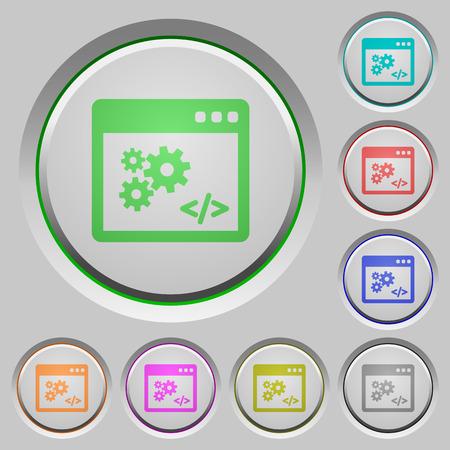 api: Set of color API sunk push buttons.
