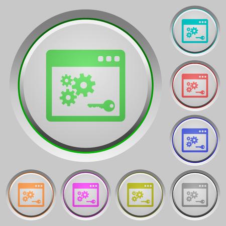 api: Set of color API key sunk push buttons. Illustration