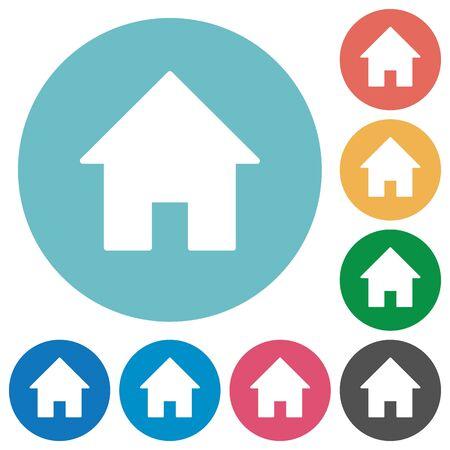 icono de la promoción Piso situado en el fondo de color ronda.