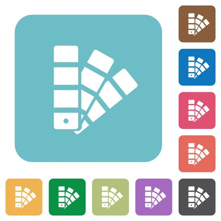 color swatch: Flat color swatch icons on rounded square color backgrounds.
