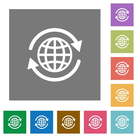 provision: International flat icon set on color square background. Illustration