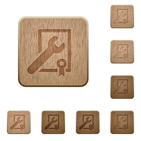 award winning: Set of carved wooden Award winning support buttons in 8 variations.