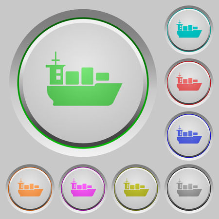 water carrier: Set of color sea transport sunk push buttons.