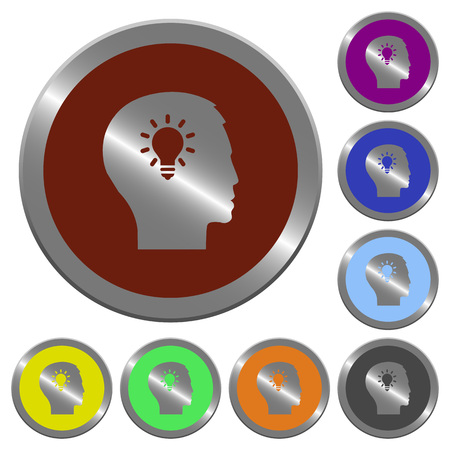 lumen: Set of color glossy coin-like idea buttons