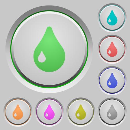 color drop: Set of color drop sunk push buttons.