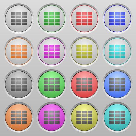 hoja de calculo: Conjunto de botones de plástico esféricas hundidos hoja de cálculo.