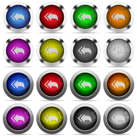 reply all: Set of Reply to all glossy web buttons. Arranged layer structure. Illustration