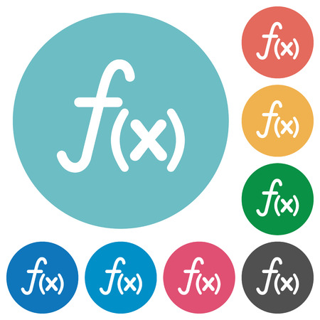 nameless: Flat function icon set on round color background.