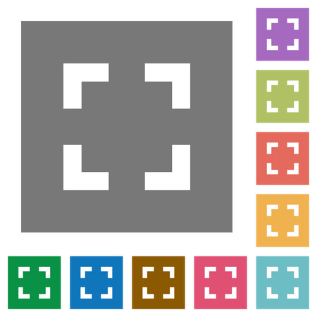 selector: Selector tool flat icon set on color square background. Illustration