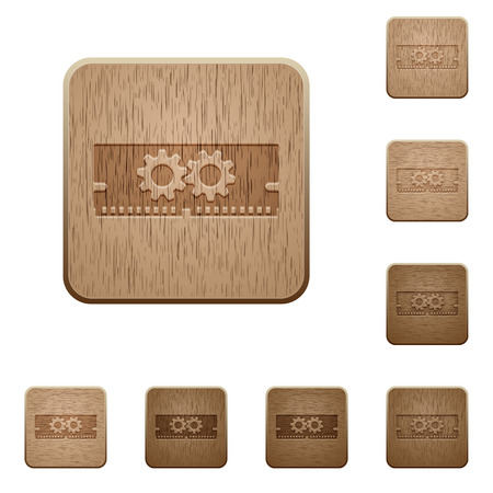 kilobyte: Memory optimization icons in carved wooden button styles