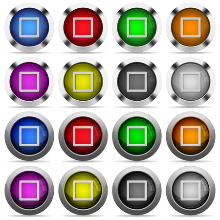tracklist: Media stop color glass buttons in metal frames