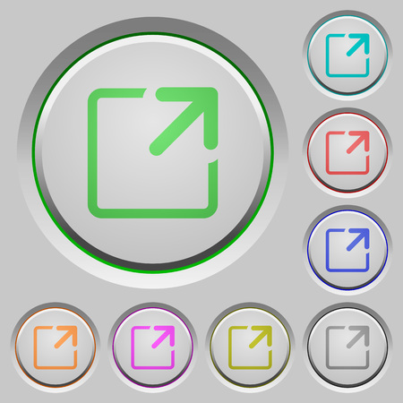 maximize: Maximize window color icons on sunk push buttons Illustration