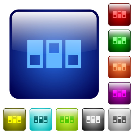 switchboard: Switchboard color glass rounded square button set