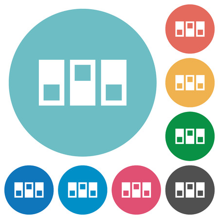 switchboard: Switchboard white flat icons on color rounded square backgrounds Illustration