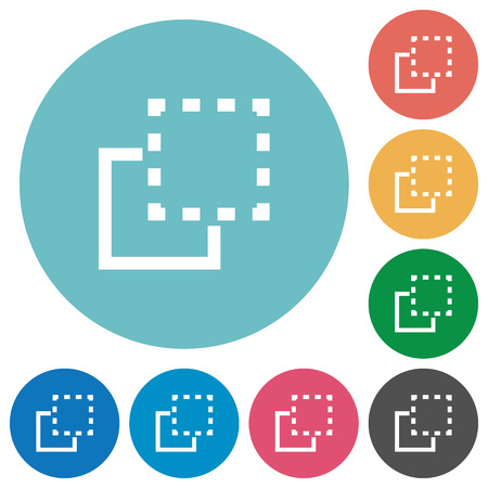 bring: Bring to front white flat icons on color rounded square backgrounds Illustration