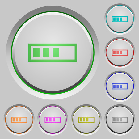 executing: Progressbar color icons on sunk push buttons
