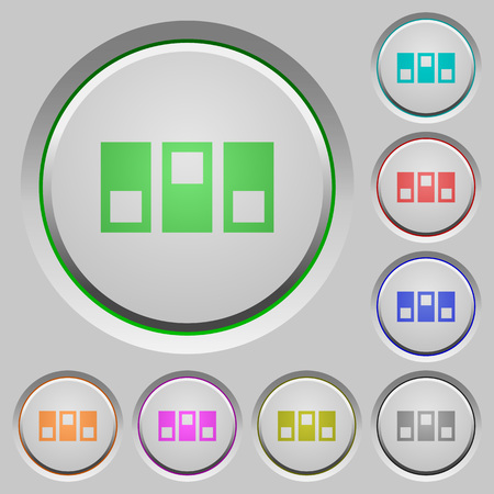 switchboard: Switchboard color icons on sunk push buttons Illustration