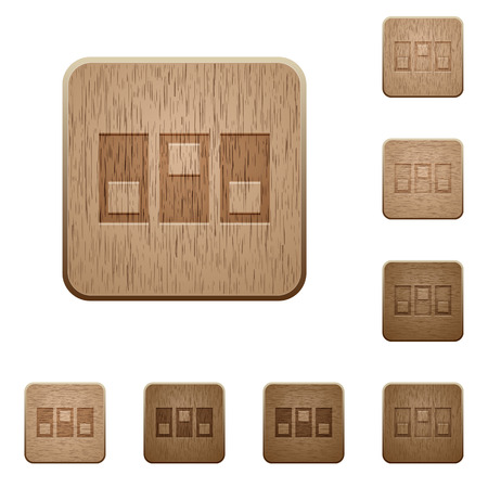 switchboard: Switchboard icons in carved wooden button styles