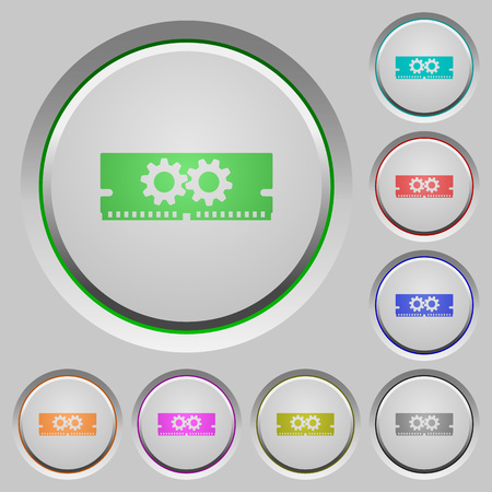 Memory optimization color icons on sunk push buttons