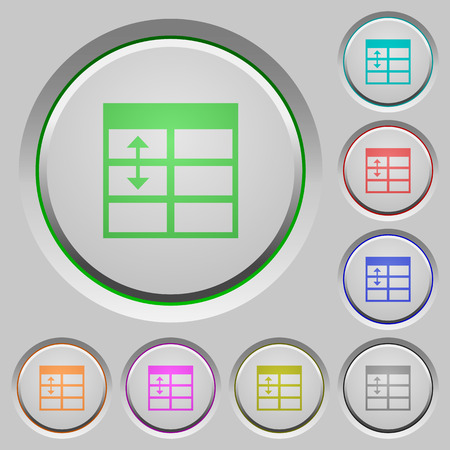 resize: Spreadsheet adjust table row height color icons on sunk push buttons Illustration