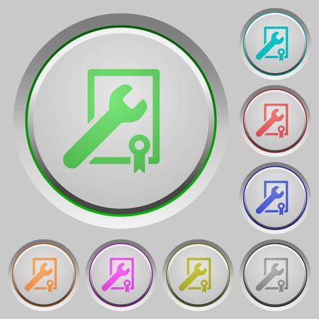 賞の勝利サポート沈められたプッシュ ボタンの色アイコン  イラスト・ベクター素材