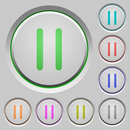 intermission: Media pause color icons on sunk push buttons