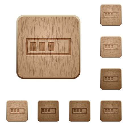 executing: Progressbar icons in carved wooden button styles