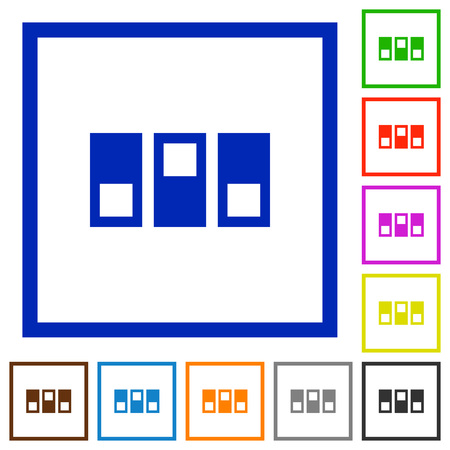switchboard: Switchboard flat color icons in square frames