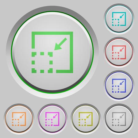 minimize: Minimize element color icons on sunk push buttons