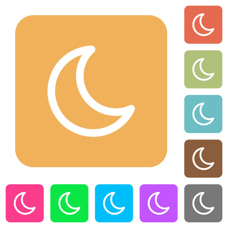 standby: Moon shape icons on rounded square vivid color backgrounds.