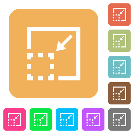 minimize: Minimize element icons on rounded square vivid color backgrounds.