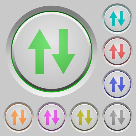 kilobyte: Data traffic color icons on sunk push buttons