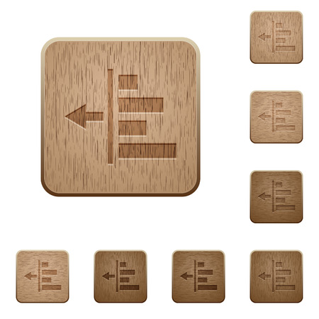 indent: Decrease left indent on rounded square carved wooden button styles