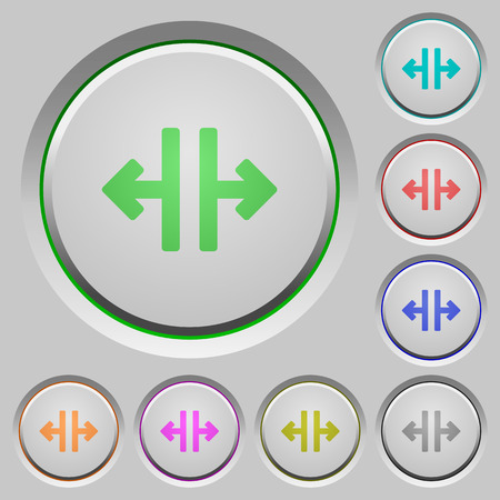 aside: Vertical split color icons on sunk push buttons