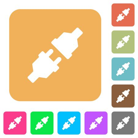 conducting: Unplugged icons on rounded square vivid color backgrounds. Illustration