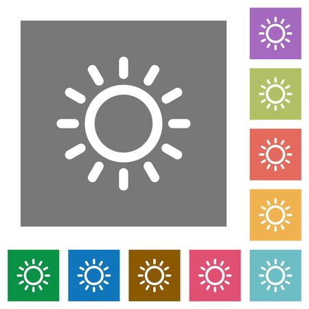 単純な色の正方形の背景の明るさ制御フラット アイコン