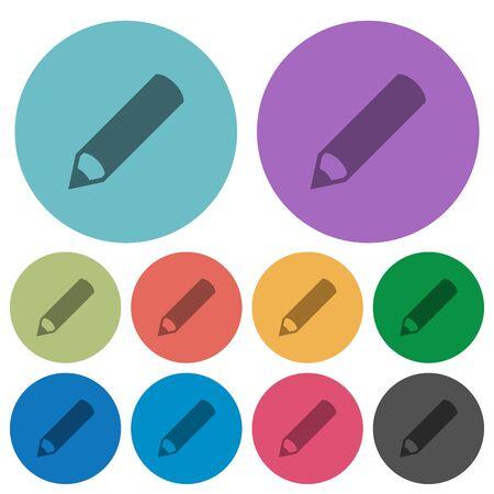 modification: Pencil darker flat icons on color round background