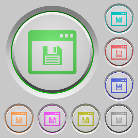 bevel: Save application color icons on sunk push buttons