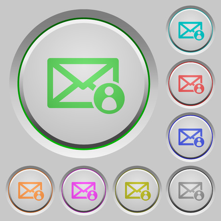 shipper: Mail sender color icons on sunk push buttons