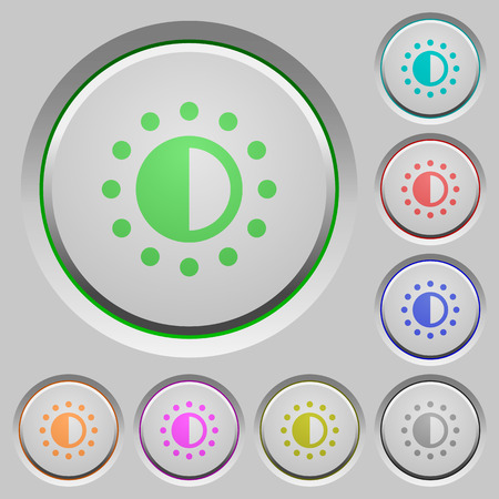 luminance: Saturation control color icons on sunk push buttons