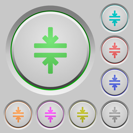 Horizontal merge color icons on sunk push buttons
