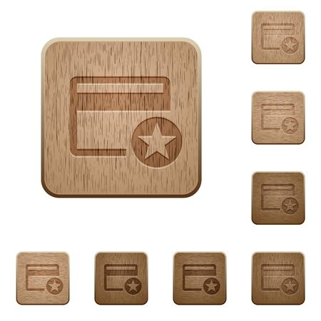 Primary credit card on rounded square carved wooden button styles