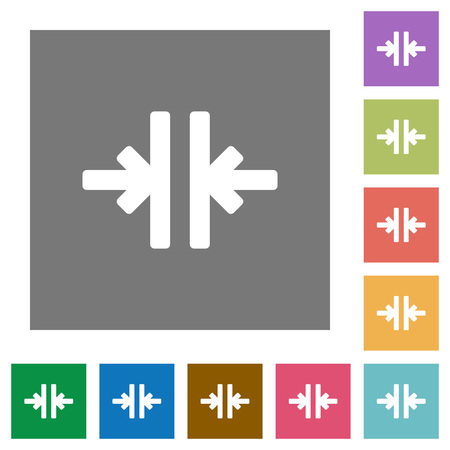 Vertical merge flat icons on simple color square backgrounds